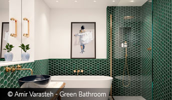 Amir Varasteh Green Bathroom
