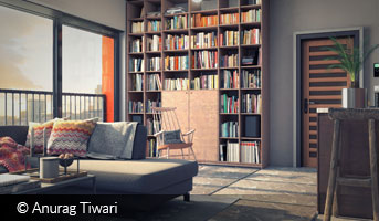 Anurag Tiwari apartment floor render 3D contest